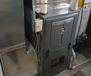 New furnace in basement