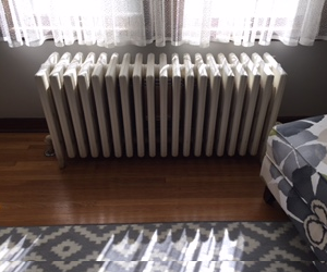Radiator in a home